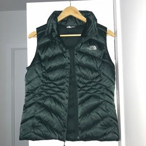 Women's North Face Puffer Vest Forest Green Small